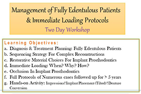 Management of Fully Edentulous Patients & Immediate Loading Protocols